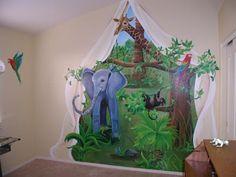 Jungle Themed Nursery Murals