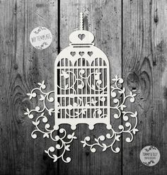SVG / PDF Birdcage Design  Papercutting Template to print and