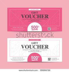Minimal Voucher Card  Gift Voucher Design Templates   A
