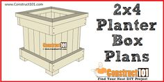 DIY planter box and bench plans for flowers, trees, or any type of plants. Include shopping list, cutting list, and illustrations. Shed Plans 12x16, Lean To Shed Plans, Shed Building Plans, Diy Shed Plans, Coop Plans, Planter Box Plans, Diy Planter Box, Diy Planters, Garden Planters