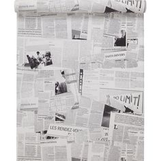 1000 images about papier peint wc on pinterest ps manga and articles - Papier peint journal ...