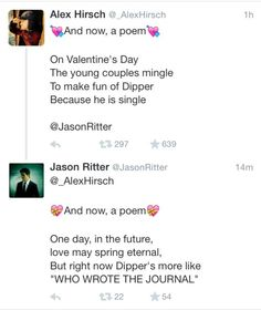 I love how Alex and Jason (Dip's voice actor) seem to be BESTFRIENDS