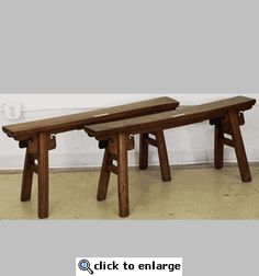 Antique Chinese Gate Benches