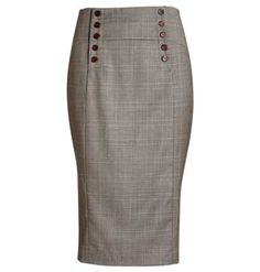 Jigsaw - Soft check wool skirt