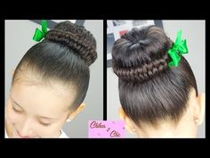 Recogido/Dona con Trenza Infinita - Infinity Braided Bun   Peinados Faciles   Peinados con Trenzas - YouTube