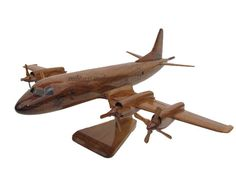 USN Navy P-3 Orion Anti Submarine Aircraft Mahogany Wood High Detailed Handcrafted Wooden Model Gift by MilitaryMahogany on Etsy