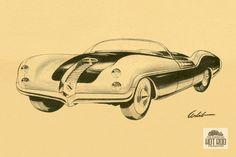 Richard Arbib sports car rendering