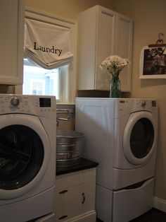 Laundry Room Design, Pictures, Remodel, Decor and Ideas -love the laundry sink idea!