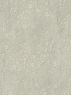 A floral motif brings a touch of feminine-flair to the Raymond Waites Chola Textured Scroll Wallpaper , featuring a neutral color scheme. This wallpaper. Paisley Wallpaper, Textured Wallpaper, Wall Wallpaper, Pattern Wallpaper, Wallpaper Ideas, Bathroom Wallpaper Cream, Cream Wallpaper, Charcoal Wallpaper, Taupe Walls