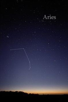 """Aries, the """"ram,"""" is a mid-size constellation in the Northern Hemisphere. [See our reference page about the constellation of Aries.]"""