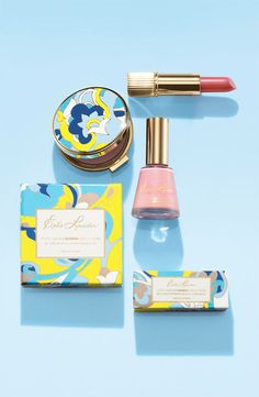 "Estée Lauder: Mad Men Collection: ""Inspired by the rock-concert light shows and see-through, cut-out fashions that made the era swing. Compact case and carton are replicas of actual designs from Estée Lauder's '60s era collections."""