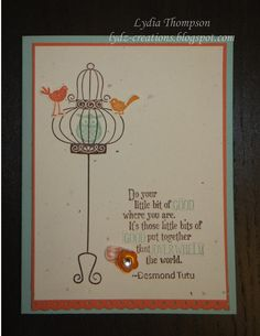 Card made using Stampin' Up Aviary and Pursuit of Happiness stamp sets