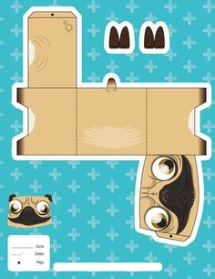 Adorable little pug fold! It's so cute and easy!