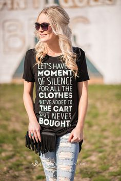 A Moment Of Silence Graphic Tunic Top (Black) - NanaMacs.com - 1