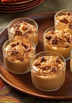 Praline Pumpkin Mousse — You're just 15 minutes away from popping these pretty Praline Pumpkin Mousse cups in the fridge—and 4 more hours from wowing your guests with them. Enter the Share it. Pin it. Win it. Sweepstakes! Pin your favorite holiday recipe or upload your own for a chance to win a tablet! Visit www.kraftrecipes.com/shareit for complete details. #PintoWinSweepstakes