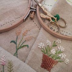 #Embroidery#stitch#needlework #프랑스자수#자수#일산프랑스자수 #l love embroldery ~