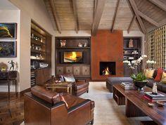 seam pattern at fireplace