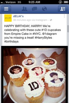 Look what Delia's did for Harry's birthday!