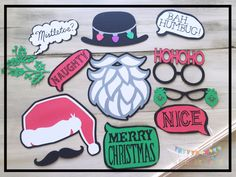 Having a Christmas party? Why not add these photo props for some extra fun…