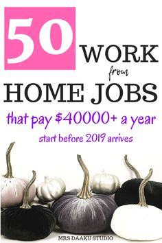 Work from home jobs for moms and dads are a blessing. But, what are your stay at home job options? In this 6000 list, we share 50 ways to side hustle at home and making extra money on the side (along with They are legitimate work at home options th Work From Home Opportunities, Work From Home Tips, Make Money From Home, Way To Make Money, Business Opportunities, Work At Home Jobs, Work From Home Canada, Legit Work From Home, Career Options