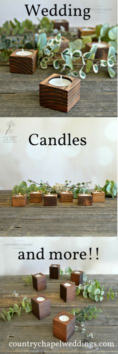 My go-to way of decorating wedding tables is always to start with candles. Scatter them everywhere and they create such a perfect atmosphere and warm glow!  These little candle cuties are just right for filling out your wedding tables. They will add a simple, clean, natural look to your centerpieces and decor, with a modern and contemporary vibe, perfect for 2019 weddings. Lighted Centerpieces, Rustic Wedding Centerpieces, Tea Light Candles, Tea Lights, Wedding Reception Backdrop, Wedding Tables, Reception Ideas, Vintage Bridal Bouquet, Spring Wedding Decorations