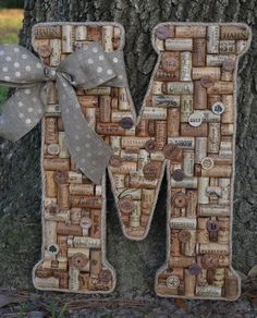 Large Wine Cork Letter M