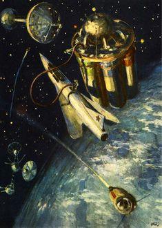Vintage Space Art