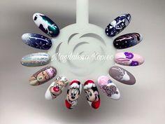 Christmas nails design by Magdalena Kopiec #nails #nail #nailart #indigo #christmasnails #christmas #winter #holiday