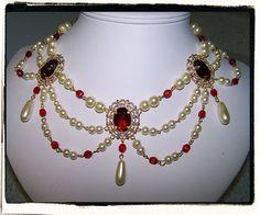 Ruby und Pearl Kragen Renaissance Tudor von RecycledRockstah