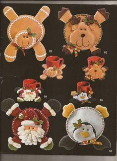 ⇨Aprende cómo hacer lindos porta vasos navideños 👗 Felt Christmas Decorations, Christmas Ornaments To Make, Christmas Makes, Christmas Clipart, Xmas Crafts, Felt Ornaments, Christmas Projects, Fun Crafts, Christmas Holidays