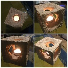 The candle cube from wood