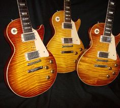3 beautiful Bursts from Burst Believers author and our featured Vintage Dealer - Vic DaPra. Burst Believers 3 currently in production. Check out our page on Vic with plenty of photos, links and our interview at our profile link and here at http://www.guitarstoriesusa.com/vic-da-pra #vicdapra #gibson #gibsonlespaul #vintageguitar #lespaul #guitar #guitarist #guitargear