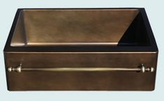 Custom Bronze and Brass Farm Sinks # 5253