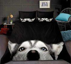 Duvet Bedding, Black Bedding, Duvet Cover Sets, Pillow Covers, Bed Design, Comforter Sets, Making Ideas, Husky, Comforters
