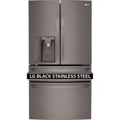 Refrigerator for pantry LG Black Stainless Steel Series 30CuFt 4-Door French Door with Customchill Drawer | LMXS30776D