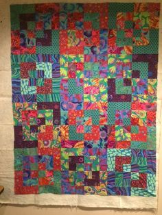 Bento Box quilt in Kaffe Fassett prints by Cordula.  As seen on PugMom Quilts.