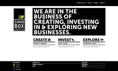 Love the look of this website. Bold and graphic.    http://www.sandboxindustries.com/
