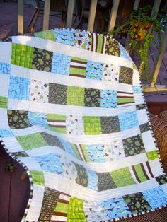 Baby Boy Quilt | Carol's leftovers plus a few of my own fabr… | Flickr - Photo Sharing!