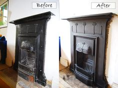 Step By Step Edwardian Fireplace Restoration With Before And After Pictures - Before After DIY Edwardian Fireplace, Old Fireplace, Bedroom Fireplace, Living Room With Fireplace, Fireplace Surrounds, Fireplaces, Fireplace Ideas, Country Fireplace, Fireplace Pictures