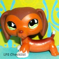 Littlest Pet Shop 675 Original Chocolate Caramel Dachshund Weiner Dog RARE LPS   eBay