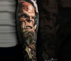 Orgrim Doomhammer tattoo by Sasha O Kharin
