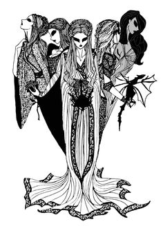 """The Prophecy by ~cabins """"Queen you shall be . . . until there comes another, younger and more beautiful, to cast you down and take all that you hold dear"""" Sansa Stark, Margaery Tyrell, Cersei Lannister, Daenerys Targaryen, Arianne Martell (A Song of Ice and Fire)"""