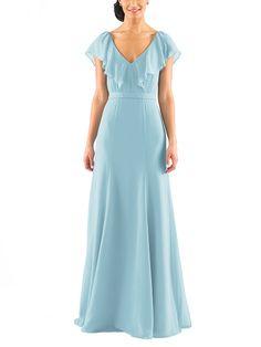 Description - Jenny Yoo Cecilia - Full length bridesmaid dress - V neck with…