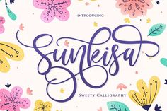Sunkisa is a dynamic, cute hand-lettered calligraphy font. The beautifully rounded characters make it the perfect font for creating stunning. Cool Fonts, New Fonts, Awesome Fonts, Pretty Fonts, Handwritten Fonts, Calligraphy Fonts, Event Logo, Cricut Fonts, Uppercase And Lowercase Letters