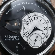 F.P. Journe Sonnerie Souveraine Watch.  The video is worth watching.