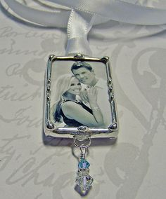 Wedding bouquet Charm Photo Pendant Bridal by DesignedToCharm2, $20.00