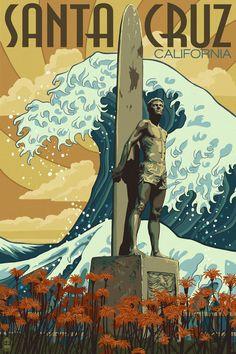 Santa Cruz Surfer Statue by Chronoperates.deviantart.com