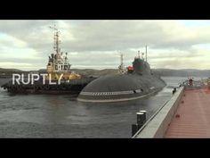 Rússia: Submarino Nuclear realiza exercícios de resposta a radiação em Murmansk - YouTube