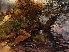 Gustave Caillebotte, Sauce junto al Yerres, hacia 1872. Óleo sobre lienzo, 31.1 x 40 cm, Colección particular
