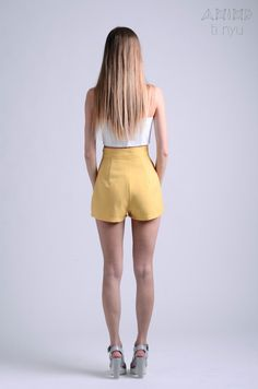 vintage 50s ochre shorts / more colors and sizes / by OtinyuO